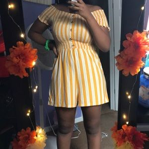 White and yellow romper